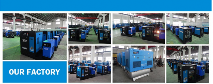 55KW Quiet Air Compressor Rotary High Efficient Air Cooling 75HP Blue ZAKF